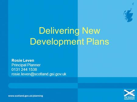 Delivering New Development Plans
