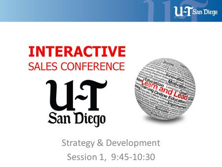 Strategy & Development Session 1, 9:45-10:30. Lesson Objectives: Lesson Objectives a)Understand the difference between commodity vs. consultative selling.