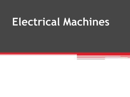 Electrical Machines LSEGG216A 9080V.