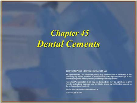 Chapter 45 Dental Cements
