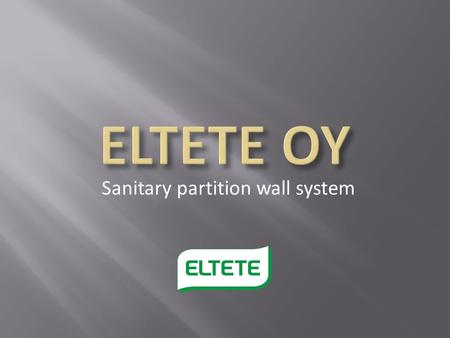 Sanitary partition wall system