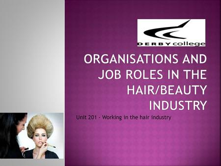Organisations and job roles in the hair/beauty industry