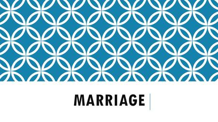 MARRIAGE. THE PATH TO MARRIAGE Recently many people feel that cohabitation (living together) is just common sense. It helps the couple train for marriage.