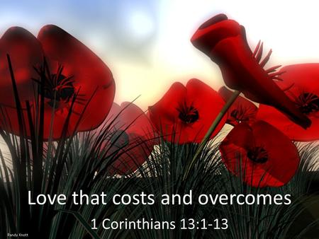 Love that costs and overcomes