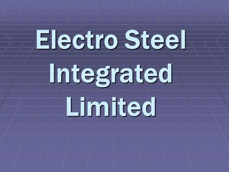 Electro Steel Integrated Limited. Introduction Electro steel Integrated Limited (EIL), a subsidiary unit of Electro steel Group, pioneer in DI Pipes market,