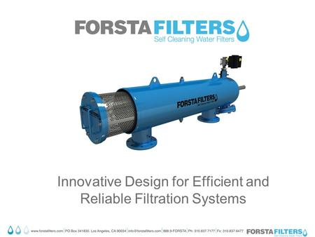 Innovative Design for Efficient and Reliable Filtration Systems.