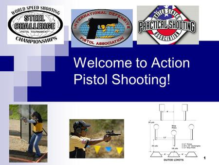 1 Welcome to Action Pistol Shooting!. 2 Certification Purpose Orient the New Shooter to Action Pistol Competitions. Safely expedite New Shooter participation.