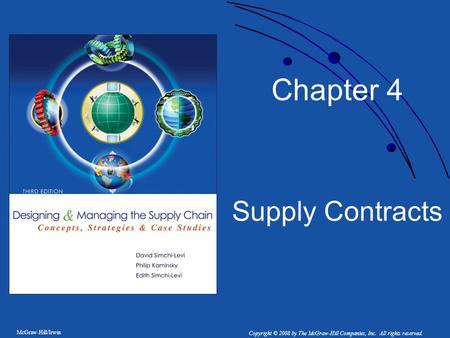 Chapter 4 Supply Contracts.