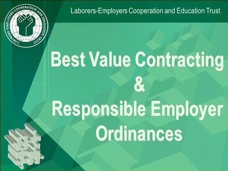 Laborers-Employers Cooperation and Education Trust.