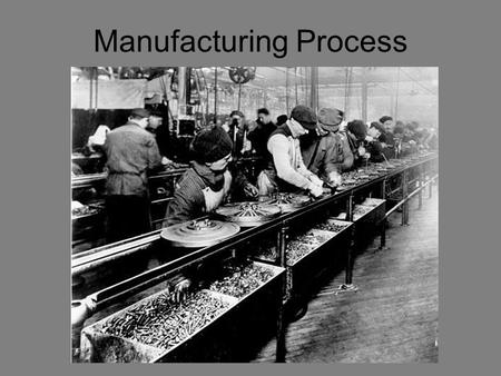 Manufacturing Process. Corporate Structure Research and Development.