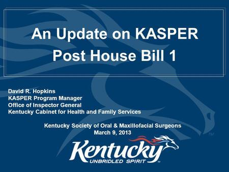 kentucky cabinet for health and family services what s new with kasper a lot facilitator dr 18066