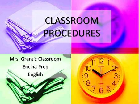 Mrs. Grant's Classroom Encina Prep English