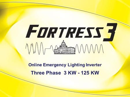 Online Emergency Lighting Inverter Three Phase 3 KW - 125 KW.
