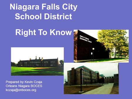 Niagara Falls City School District Right To Know