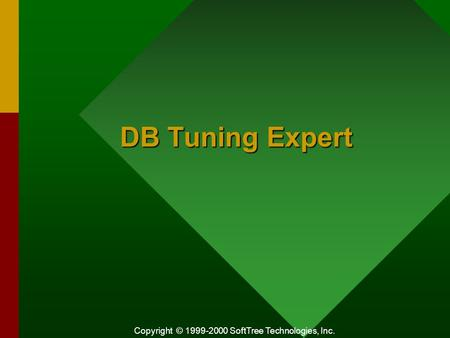 Copyright © 1999-2000 SoftTree Technologies, Inc. DB Tuning Expert.