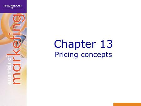 Chapter 13 Pricing concepts