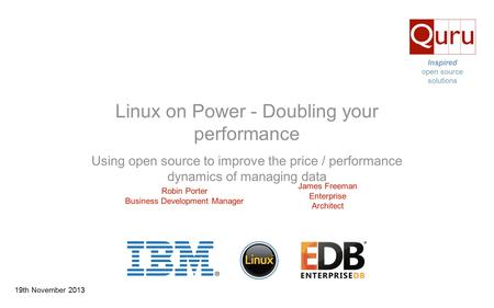 Linux on Power - Doubling your performance