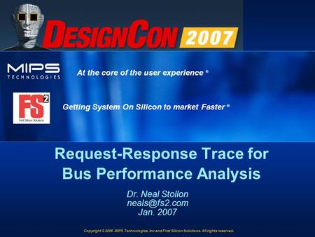Request-Response Trace for Bus Performance Analysis