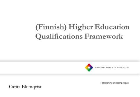 (Finnish) Higher Education Qualifications Framework