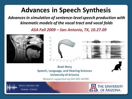 Advances in Speech Synthesis