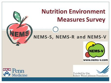 Nutrition Environment Measures Survey