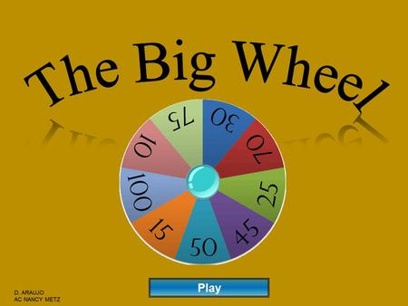 Play Instructions: 1) Divide into 3 Teams 2) Ask a Question to a Team 3) If correct, click the Spin Wheel Button to choose the number of points that.
