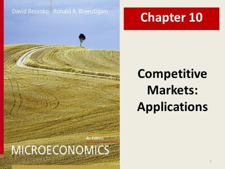 Markets: Applications