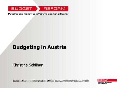 Budgeting in Austria Christina Schilhan
