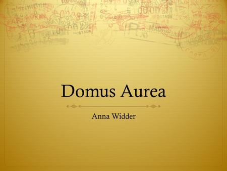 Domus Aurea Anna Widder.  colosseum-map.html Covered Palatine, Esquiline and Caelian.