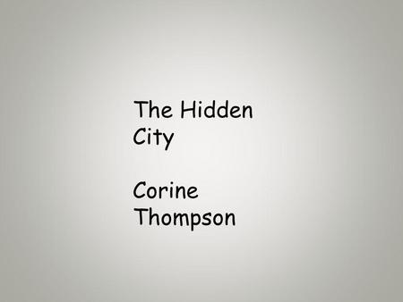 The Hidden City Corine Thompson. Patterns and Textures in Architecture such as bricks.
