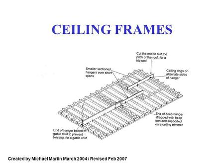 CEILING FRAMES Created by Michael Martin March 2004 / Revised Feb 2007.