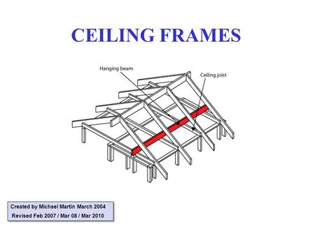 CEILING FRAMES Created by Michael Martin March 2004