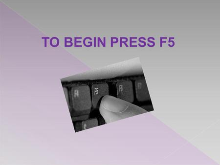 TO BEGIN PRESS F5. This course is for anyone who would like learn how to find and access electronic books and journals. The course will show you where.