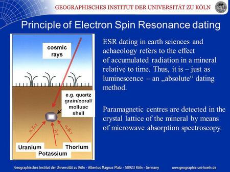 Questions on electron spin resonance dating