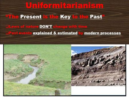 "Uniformitarianism ""The Present is the Key to the Past"""