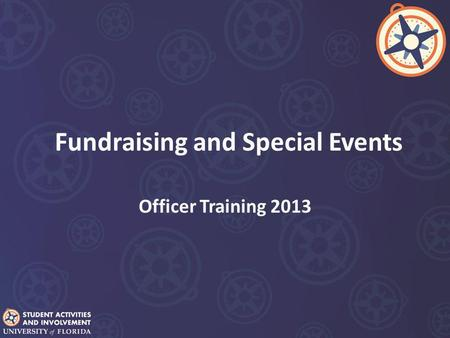 Fundraising and Special Events Officer Training 2013.