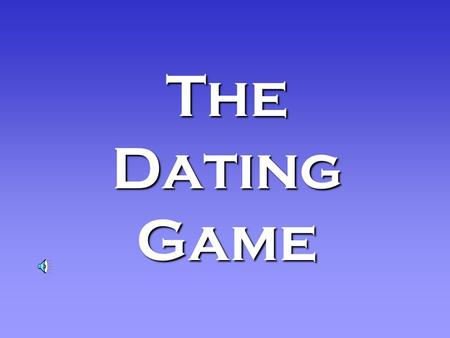 The Dating Game With Our Host, Welcome to the Dating Game, the game where we find the greatest common factors between different numbers. Hopefully well.