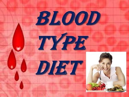 Blood type diet. A chemical reaction occurs between your blood and the foods you eat. This reaction is part of your genetic inheritance. This reaction.