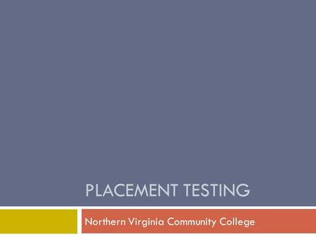 Northern Virginia Community College
