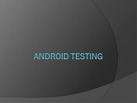 Content Testing In Eclipse, with ADT  Android Testing Framework