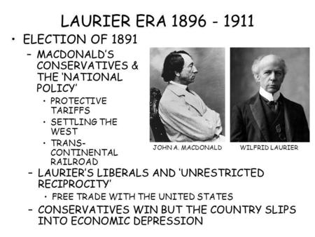 LAURIER ERA ELECTION OF 1891