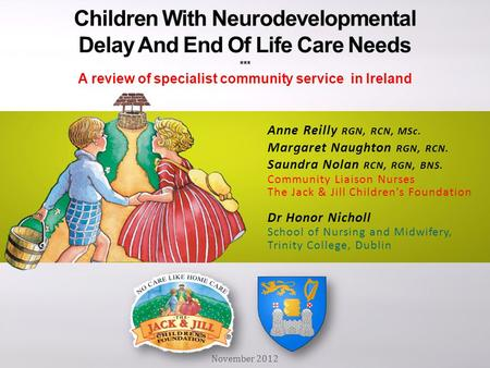 Children With Neurodevelopmental Delay And End Of Life Care Needs