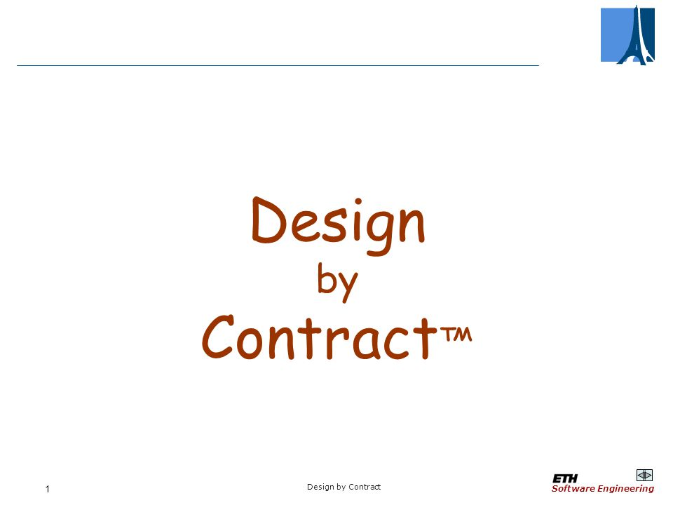 Software Engineering Design By Contract 1 Design By Contract Ppt Download