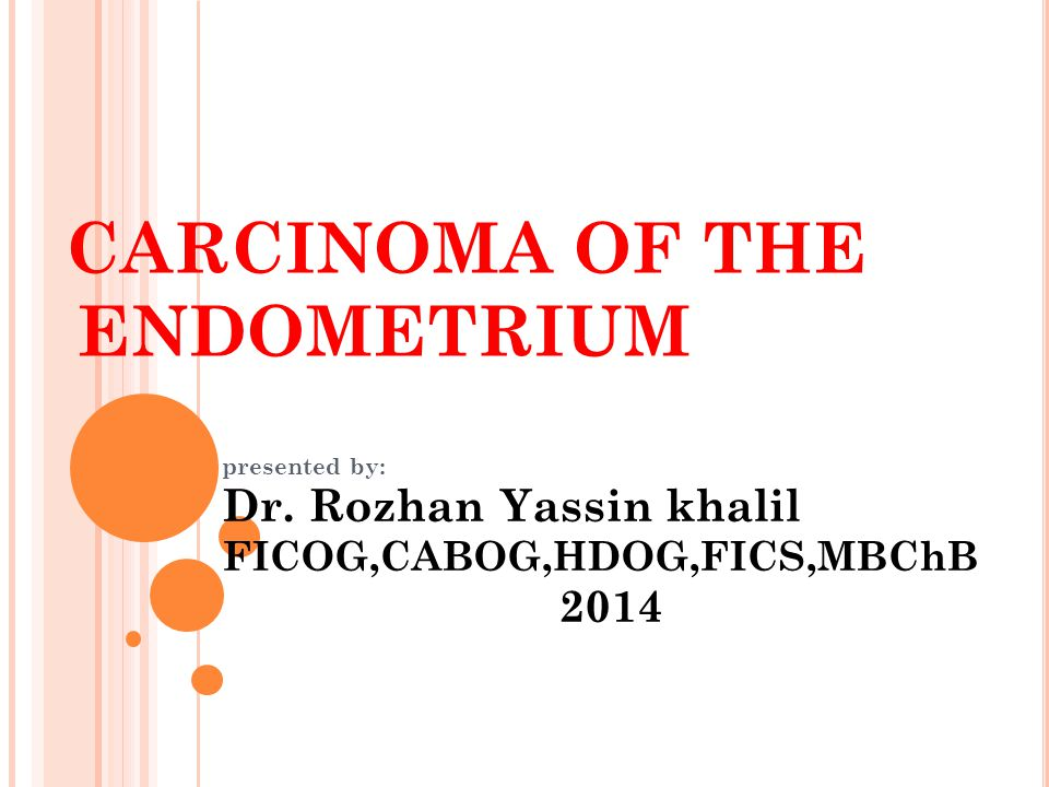cancer endometrial ppt