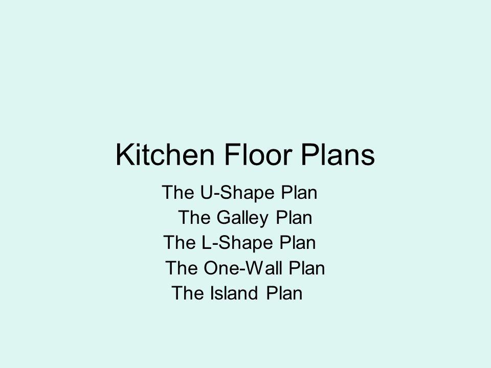 Kitchen Floor Plans The U Shape Plan The Galley Plan The L Shape Plan Ppt Video Online Download