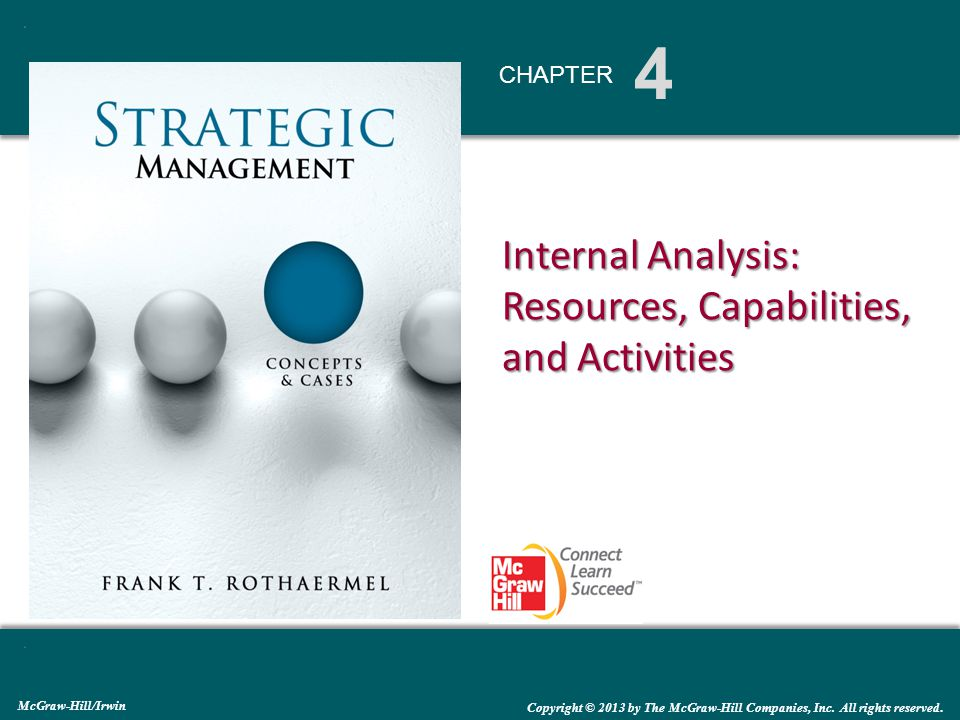 4 Chapter Internal Analysis Resources Capabilities And Activities Mcgraw Hill Irwin Copyright C 2013 By The Mcgraw Hill Companies Inc All Rights Reserved Ppt Download