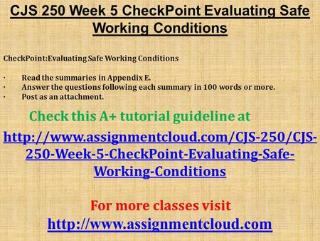 cjs 200 week 1 checkpoint Cjs 200 assignment: the prison system cjs 200 assignment: the effects of punishment and sentencing cjs 200 checkpoint: prison populations cjs 200 assignment: inside criminal law cjs 200 checkpoint: causation of crime cjs 200 checkpoint: law enforcement agencies cjs 200 assignment: the rules of law enforcement cjs 200 checkpoint: terrorism and.