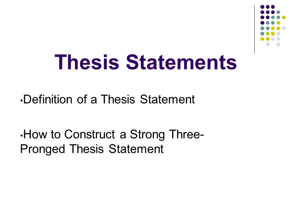 Define The Word Thesis