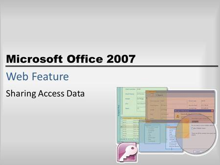 Microsoft Office 2007 Web Feature Sharing Access Data.