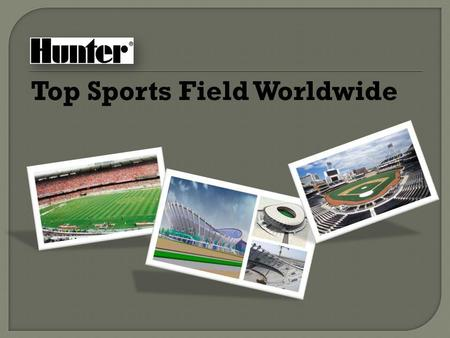 Top Sports Field Worldwide. Polokwane, SOUTH AFRICA Host the 2010 FIFA World Cup Hunter Products: ICC, PGV, I-25, MP Rotator.